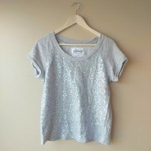 Express Sequined Cotton Top